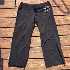 cute black aeropostale sweatpants size large